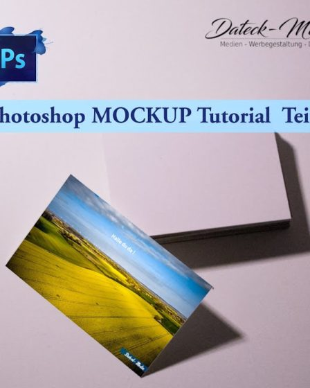 Visitenkarten Mockup Photoshop